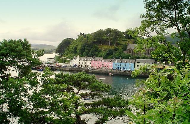 Portree Town On The Isle Of Skye, Scotland