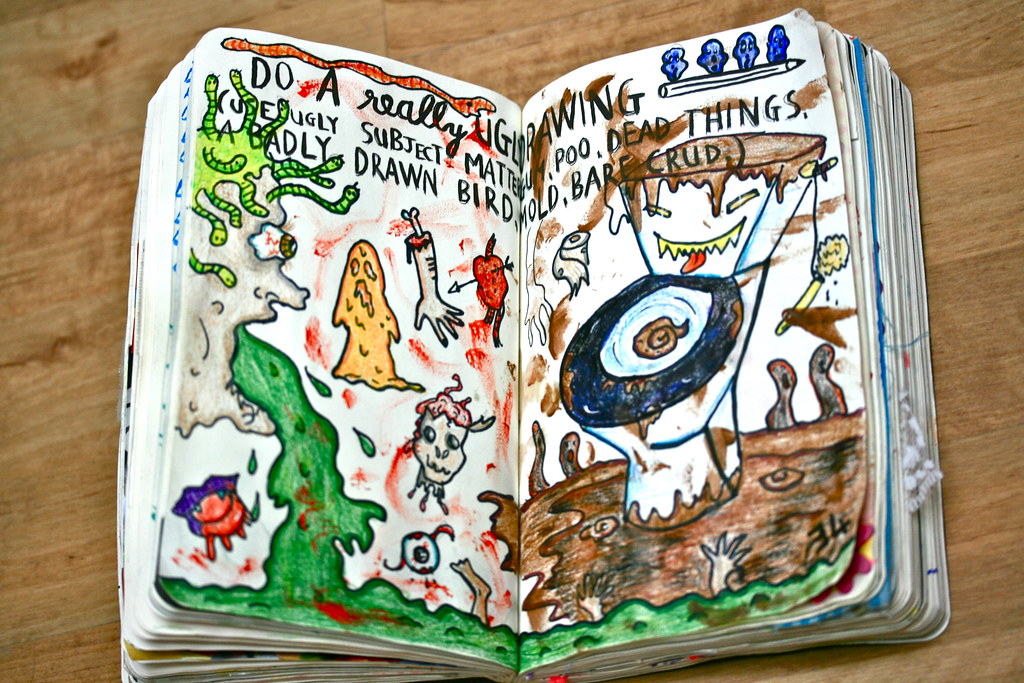 Wreck This Journal - Page 34 | Do a really ugly drawing   ug… | Flickr