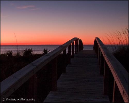 ocean morning november water st sunrise island george twilight walkway boardwalk 2009 tamron18250