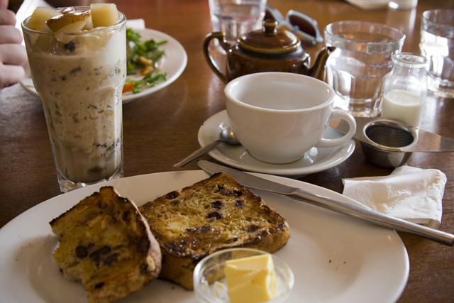 breakfast | Breakfast (bircher muesli with poached pear ...
