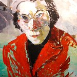 Self-portrait 1958. Oil on wood