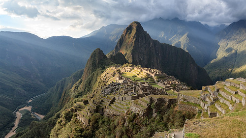 machu picchu machupicchu world heritage site peru southamerica sunset mountains cuszco panorama sixteenbynine cameracanon5d2