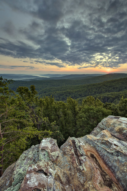 Sunrise, Rocking Rock, White County, Tennessee 3