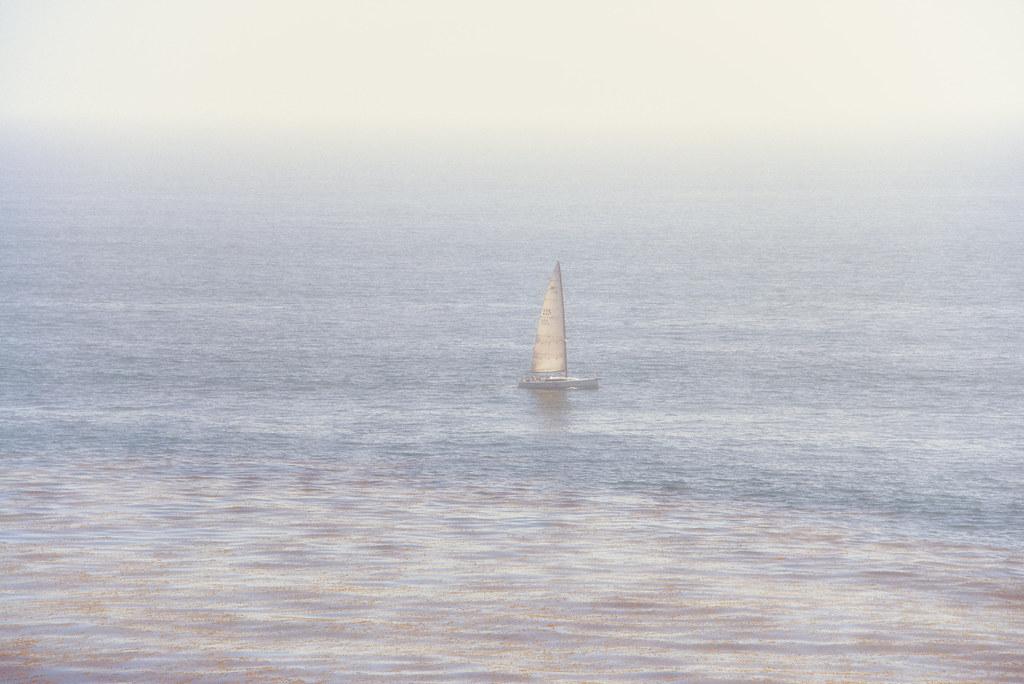 Solitary Sailboat