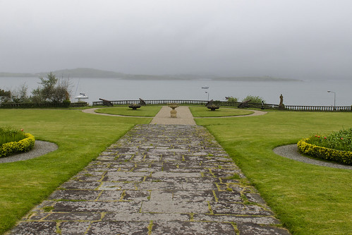 old ireland history grass fog gardens bay day estate lawn foggy historic grounds bantry
