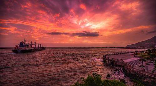 旗津 西子灣 火燒雲