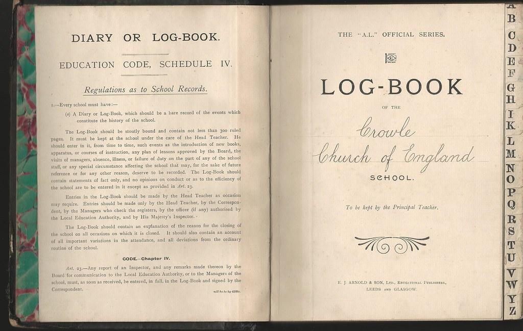 Crowle CofE School Log Book