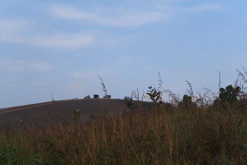jeep morning hilltop idukki kerala india ind