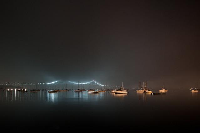 Newport Bridge in the Fog