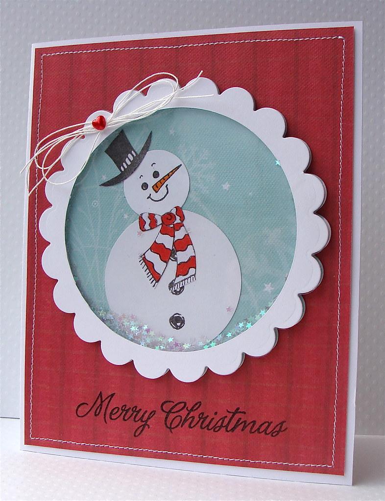 Снеговик на открытку из гофрированной бумаги