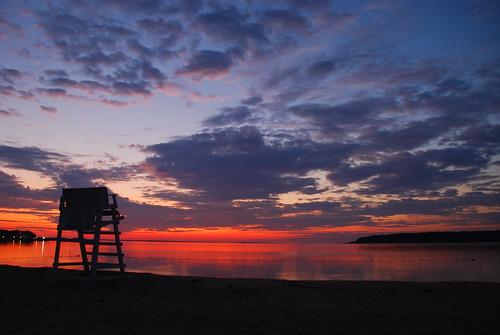 ocean ny sunrise greenport lifeguard longisland gorillapod nikond80 kstraw2
