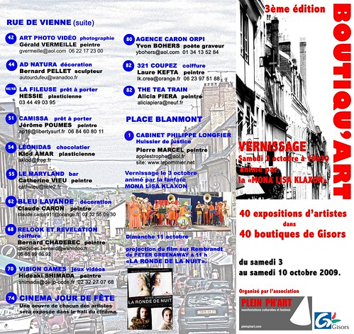 Flyer Boutiquart 2009 recto | by Applestrophe