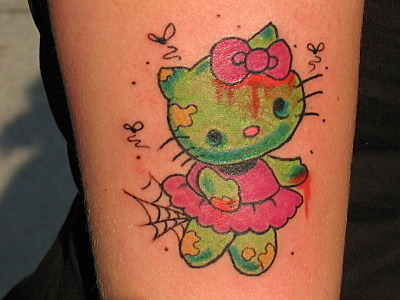 9a61c3fc69ee9 hello-kitty-zombie-tattoo | Cupcake inspiration pic! | Flickr