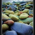 Coloured cobbles - Punta Ala , Tuscany
