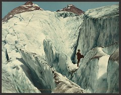Crevasse formation in Illecillewaet Glacier, Selkirk Mountains (LOC)   by The Library of Congress
