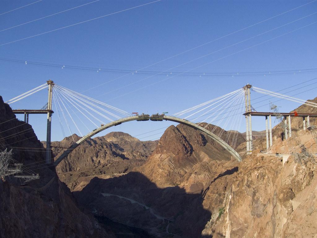 Hoover Dam Bypass Bridge Construction 2