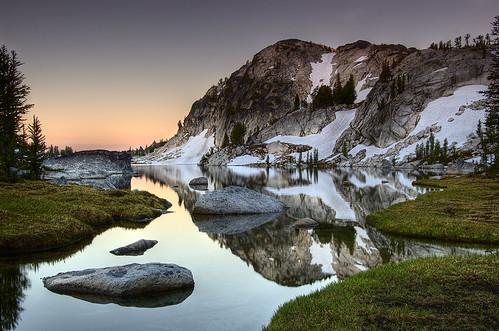 sunrise reflections nikon cascades enchantments d40 perfectionlake 1855mmf3556gii runelake