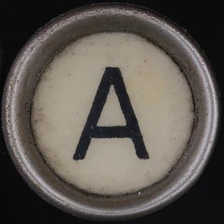 typewriter key letter A   by Leo Reynolds