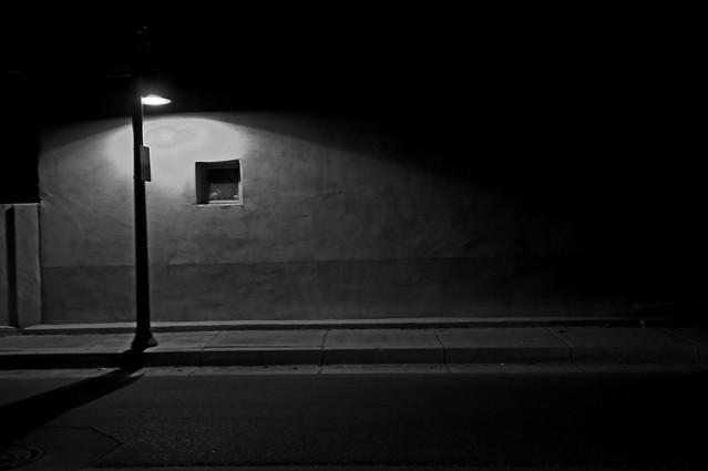 A Street Light It Was A Dark Night She Was Standing