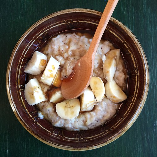 Banana coconut honey porridge