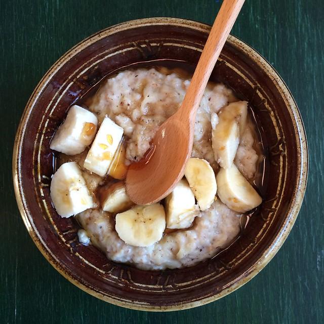 Banana coconut honey porridge