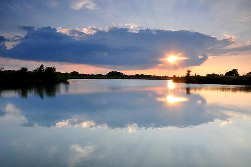 park blue sunset cloud lake creek reflections kansas wichita chisholm chisholmcreekpark