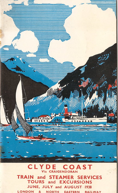 London & North Eastern Railway - Clyde Coast train and steamer services - timetables cover - 1938