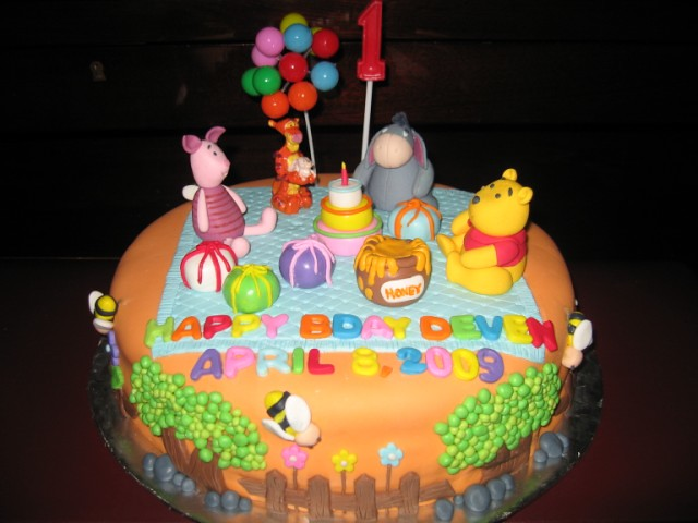 Pooh & Friends Cake for Deven