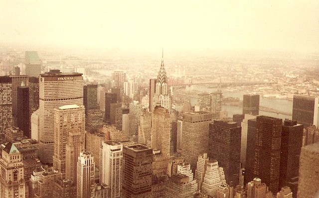 New York Skyline from The Empire State Bldng, 1979