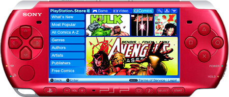 PSP roja Comics