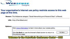 Blocked by Websense - Welcome to the MetroTech Conference Center - OKC | by Wesley Fryer