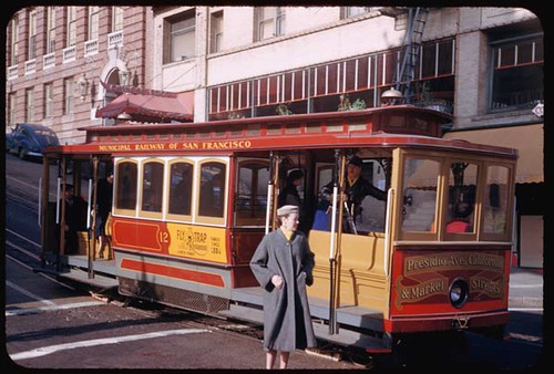 California St. Cable car stops at Grant Ave. San Francisco. | by IMLS DCC