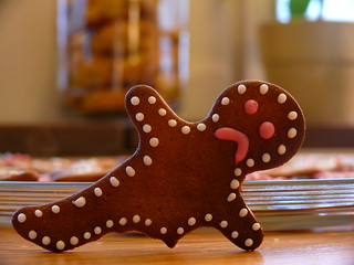sad gingerbreadman | by danaberlith