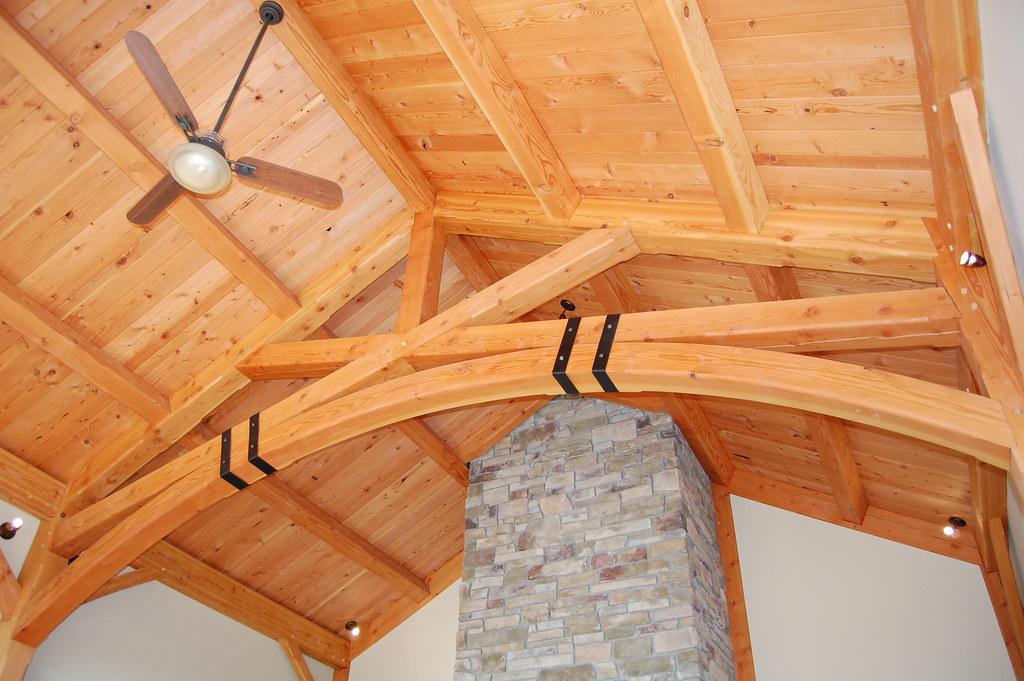 Scissor Truss   Scissor truss with curved bottom chord