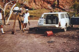 1971-72 - Operation Ord Noah - Media - ABC TV Camera Crew at Lake Argyle - KHS-2013-31-b-P-BD-01