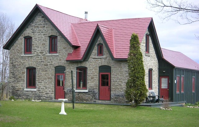Shingle Roof By Interlock Roofing Tile Red Ontario
