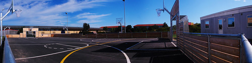 summer sky panorama playground basketball clouds denmark football soccer himmel job danmark volley skive jylland panoramastudio dalgas sonydsch5 multibane ådalskolen