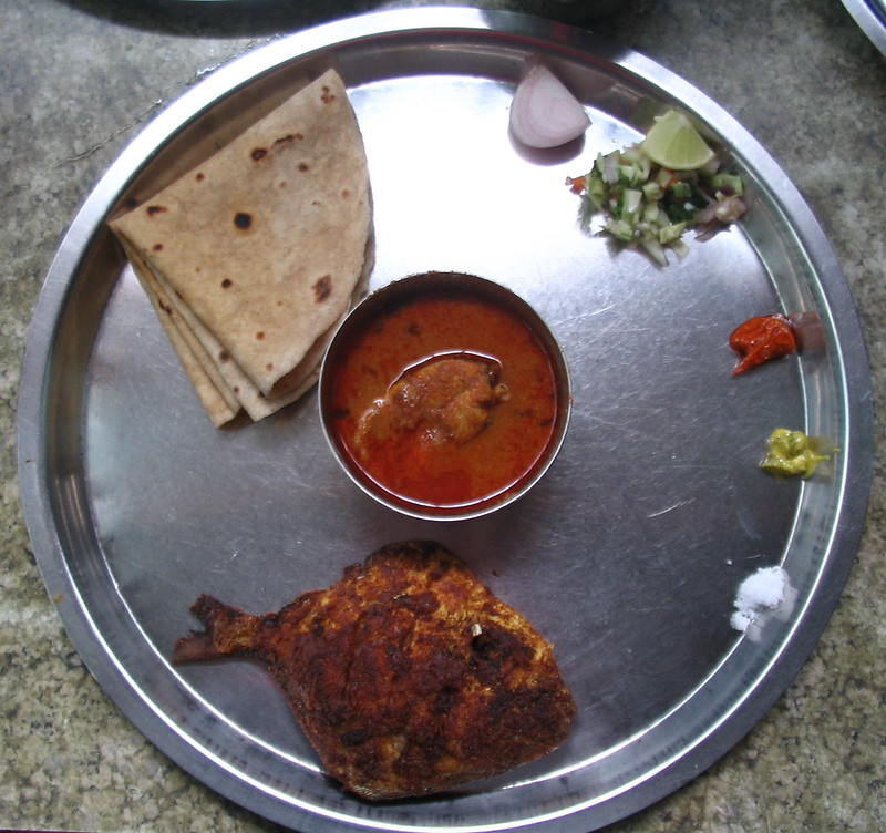 Konkani fish thali at Diveagar