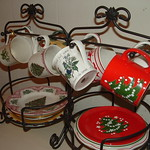 Dining Room:  Ecclectic Christmas Patterns