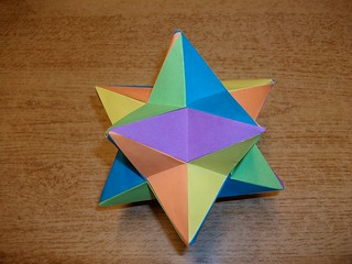 Papercrafts and other fun things: Great Stellated Dodecahedron Origami | 240x320