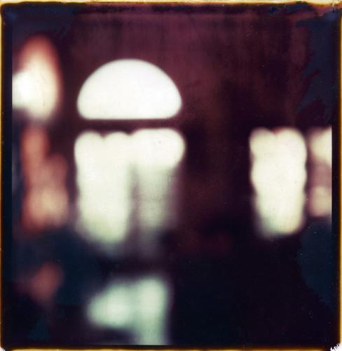 morning blur film window sunrise polaroid sx70 cottage f2b fadetoblack