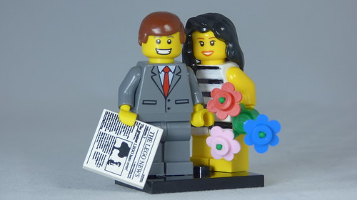 Brick Yourself Custom Lego Figure A Happy Couple | by BrickManDan