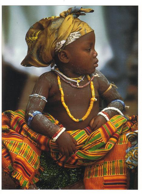 Krobo African Baby Postcard