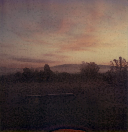 sky film field polaroid sx70 dawn trailer expired sebastopol 0909 atz