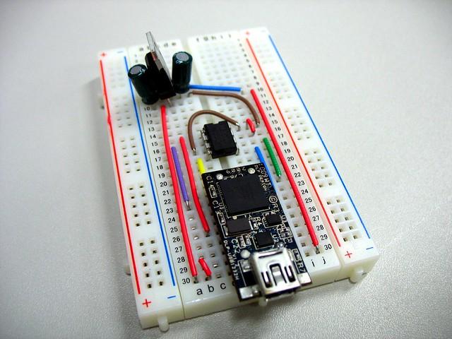 DLP Design DLP-USB1232H based SPI BIOS chip programmer wit