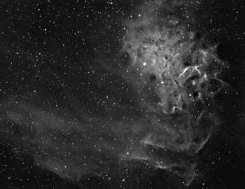 IC405, The Flaming Star Nebula, hydrogen-alpha | by write_adam
