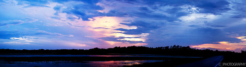 road trees sunset panorama cloud reflection sc silhouette clouds pano southcarolina panoramic kiawah marsh kiawahisland