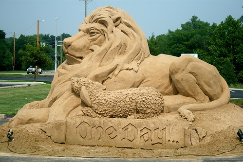 One Day, sand art, full side shot | by Tojosan