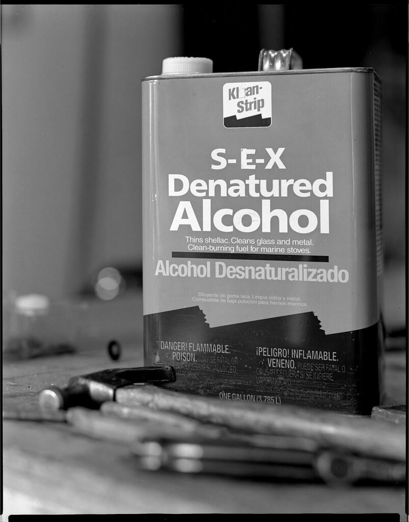 sex denatured alcohol | a fine product | Dan Carrillo | Flickr