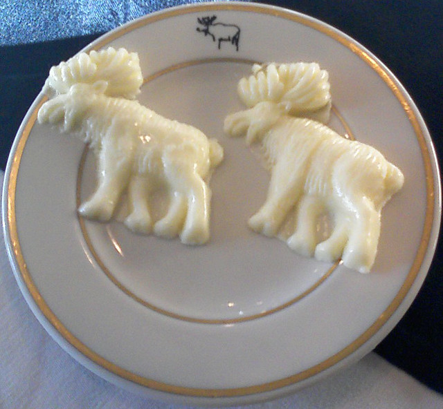 moose-shaped butter